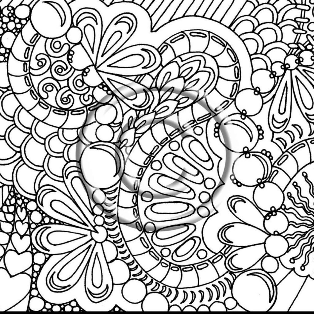 Free Printable Abstract Christmas Coloring Pages With Difficult For Adults To Print Hard