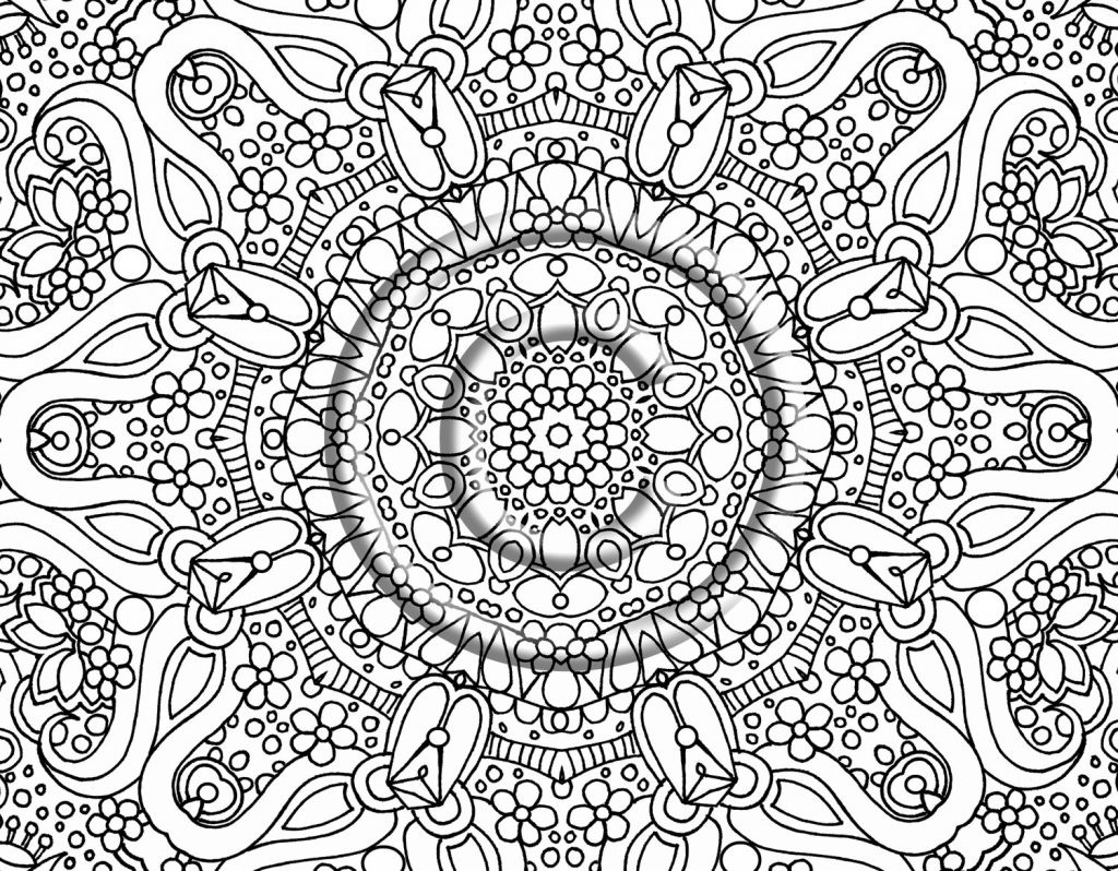 Free Printable Abstract Christmas Coloring Pages With For Adults