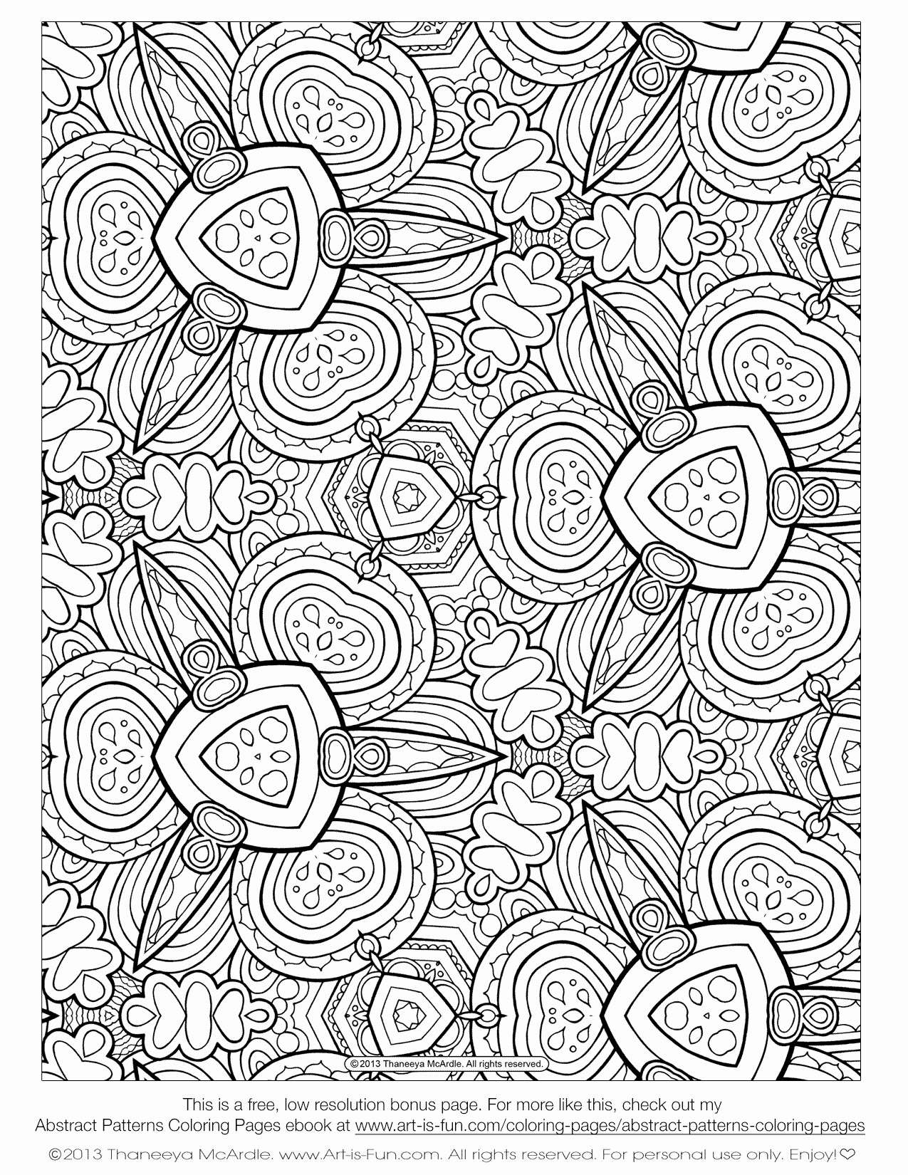 Free Printable Abstract Christmas Coloring Pages With Funny Page