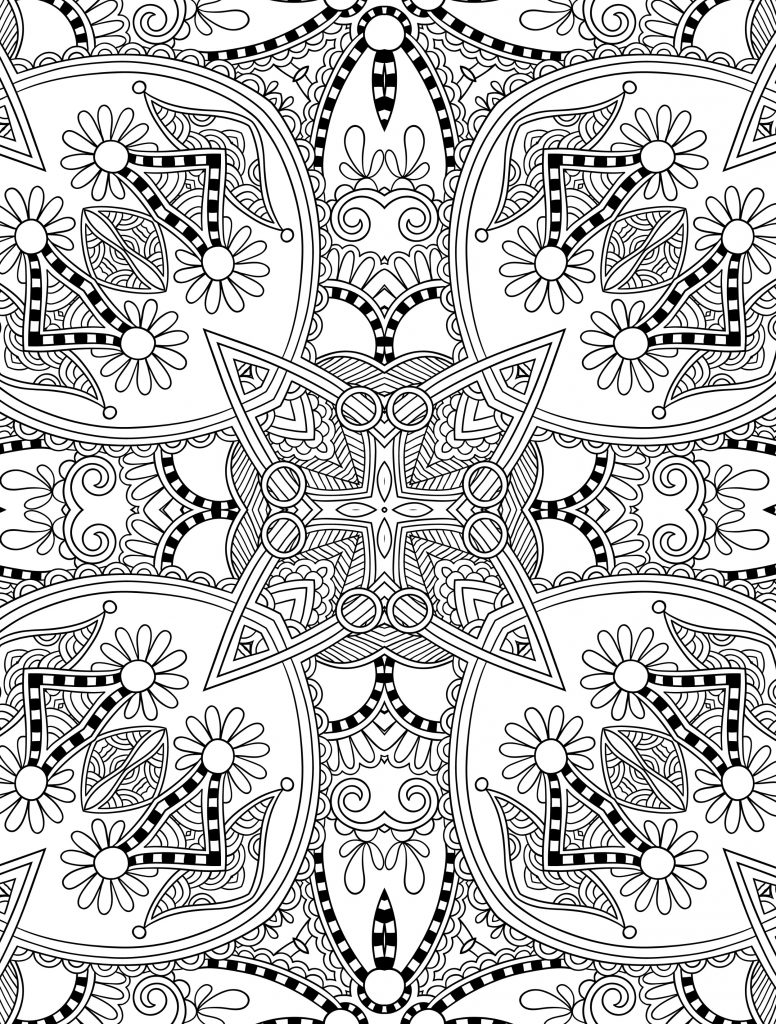 Free Printable Abstract Christmas Coloring Pages With Uncategorized For Adults All About