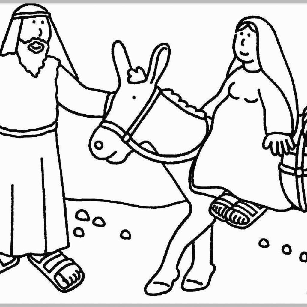 Free Printable Bible Christmas Coloring Pages With For Preschoolers Pretty