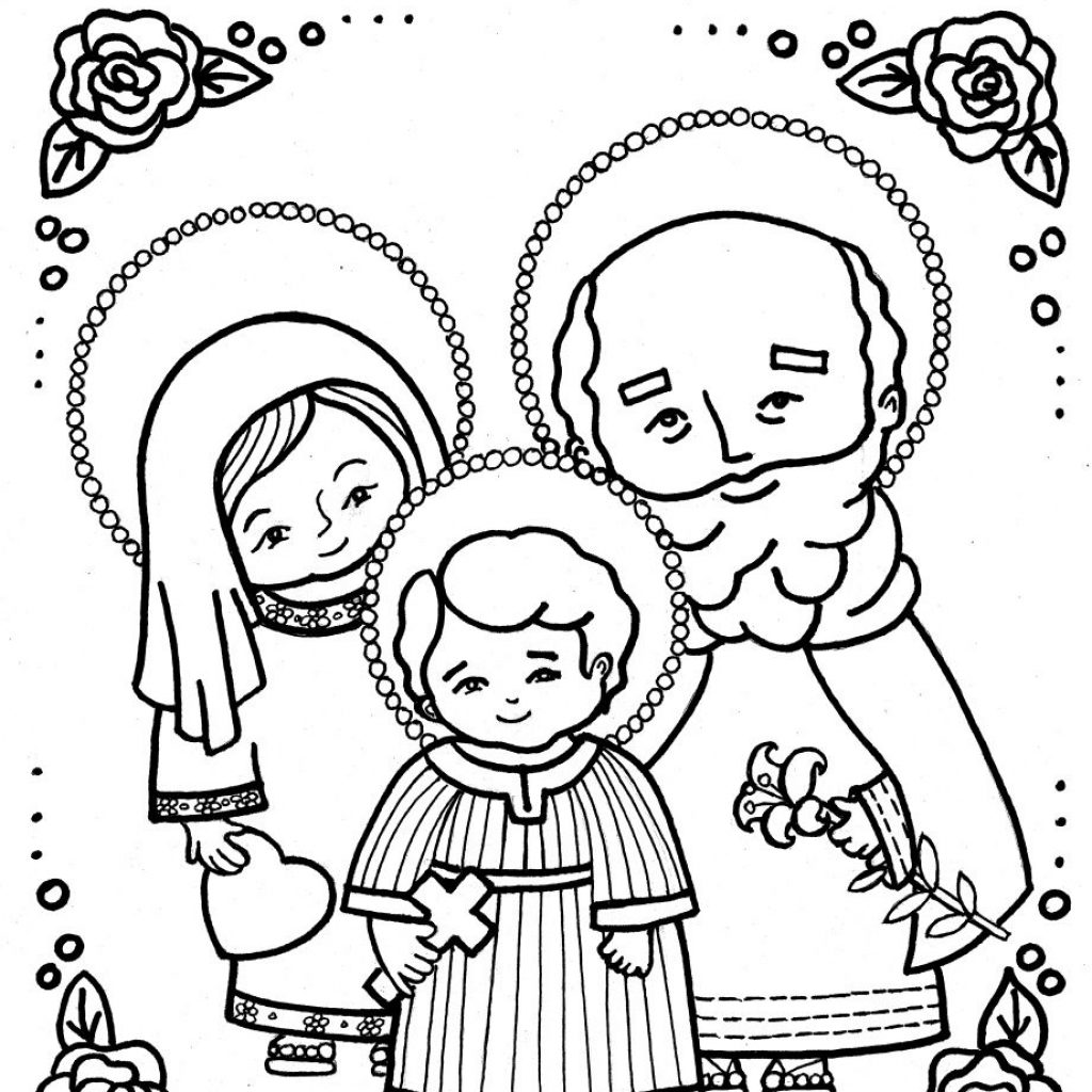 Free Printable Catholic Christmas Coloring Pages With HOLY FAMILY Page PRE Pinterest Holy Family
