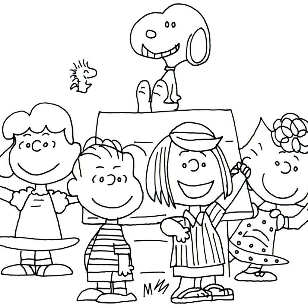 Free Printable Charlie Brown Christmas Coloring Pages With And For Kids