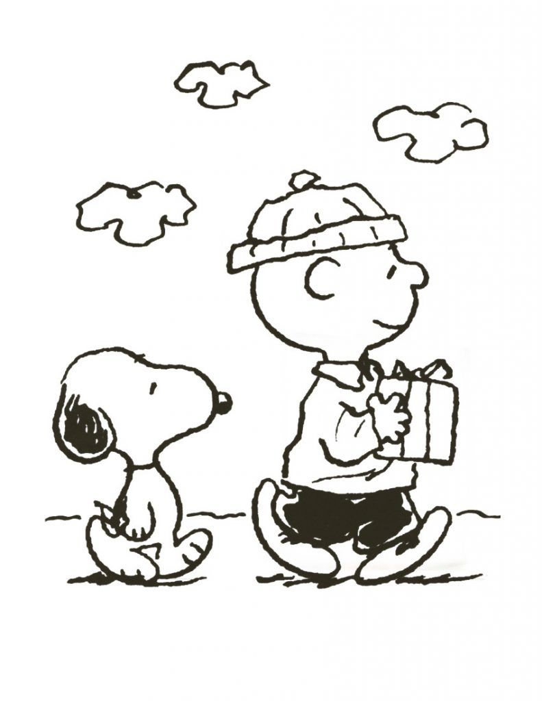 Free Printable Charlie Brown Christmas Coloring Pages With For Kids