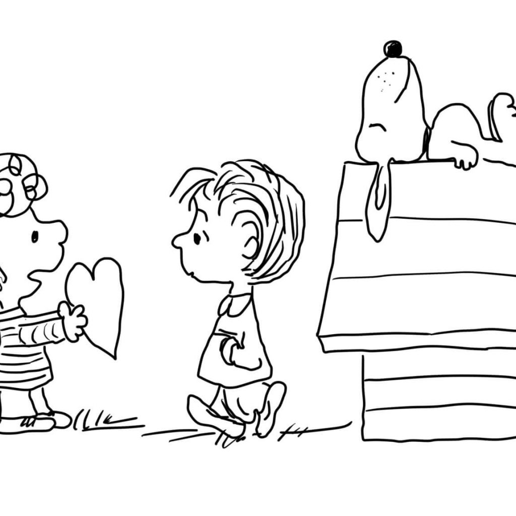 Free Printable Charlie Brown Christmas Coloring Pages With Valentine S Day Page
