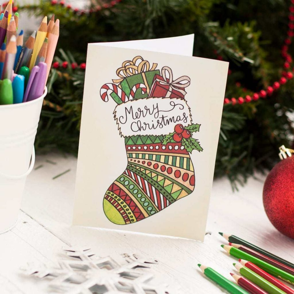 Free Printable Christmas Card Coloring Pages With Sarah Renae Clark Book