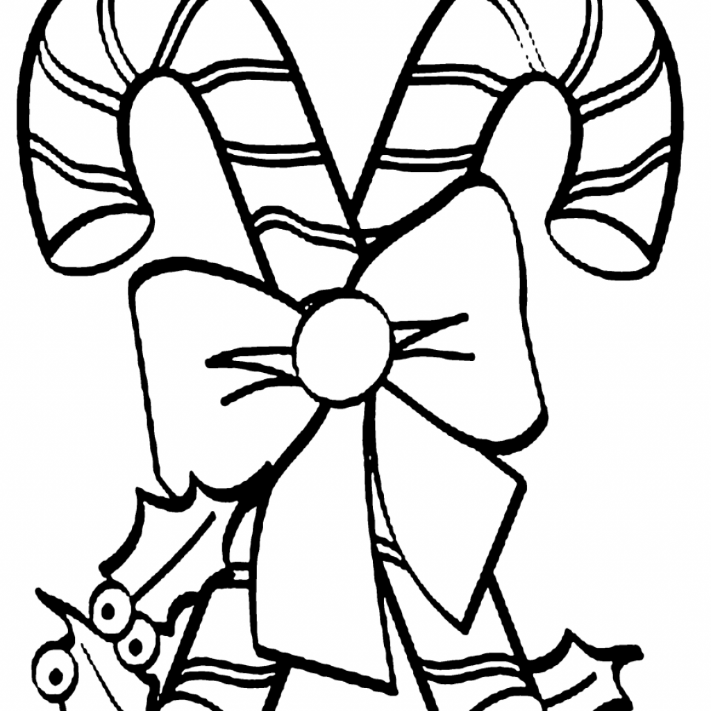 Free Printable Christmas Coloring Pages Candy Canes With Cane Download