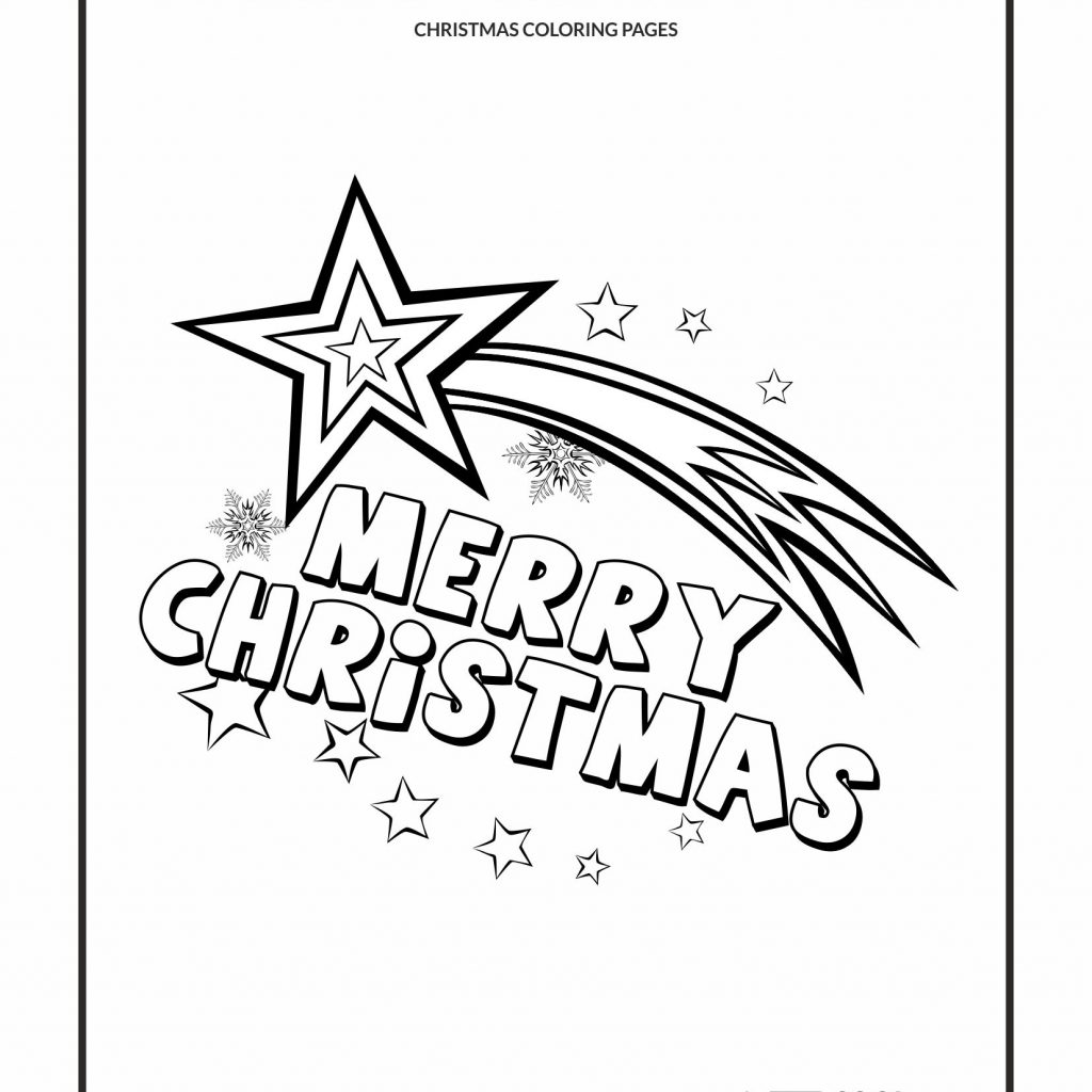 Free Printable Christmas Coloring Pages Com With Cool