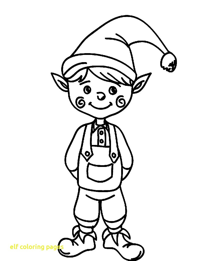 Free Printable Christmas Elf Coloring Pages With 2 Page Ideas