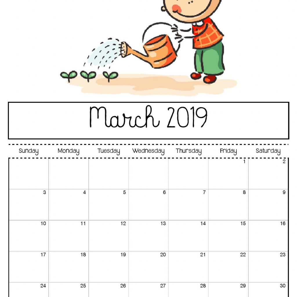 Free Printable Coloring Calendar 2019 With For Kids