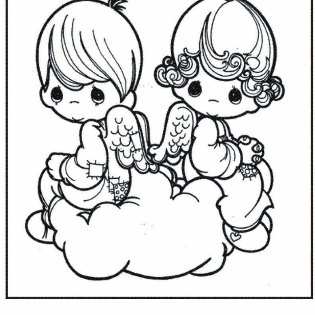 Free Printable Coloring Pages Christmas Angels With Precious Moments For Kids