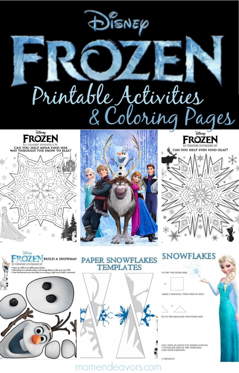 Free Printable Disney Frozen Christmas Coloring Pages With FROZEN Activities