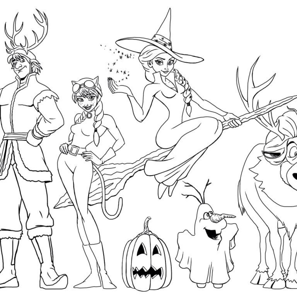 Free Printable Disney Frozen Christmas Coloring Pages With Halloween Page Mommy In SPORTS Creative