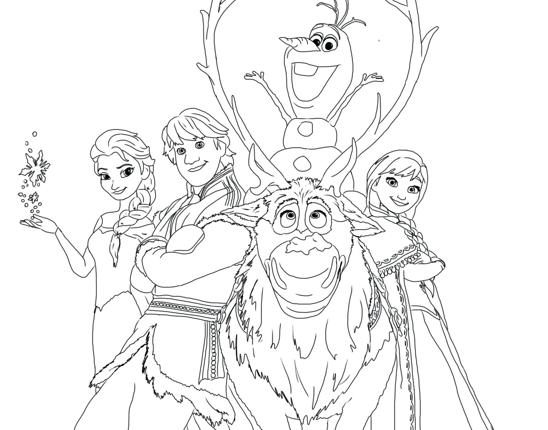 Free Printable Disney Frozen Christmas Coloring Pages With New Princess Gallery