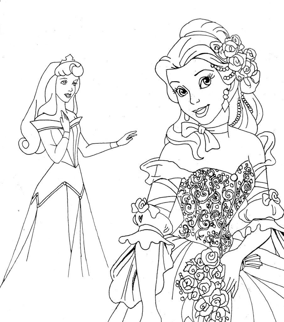 Free Printable Disney Princess Christmas Coloring Pages With For Kids