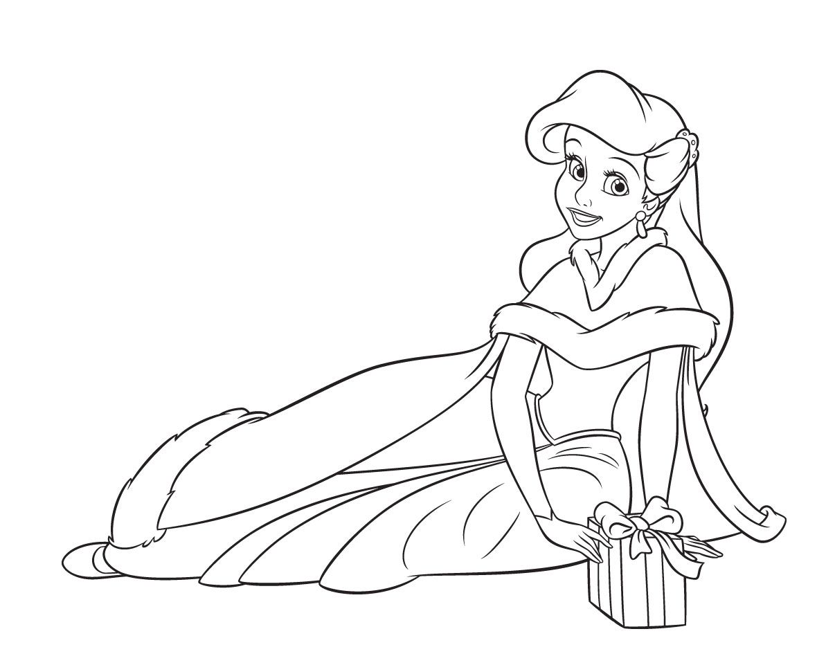 Free Printable Disney Princess Christmas Coloring Pages With Pin By Debbie Lake On Lid Painting Pinterest