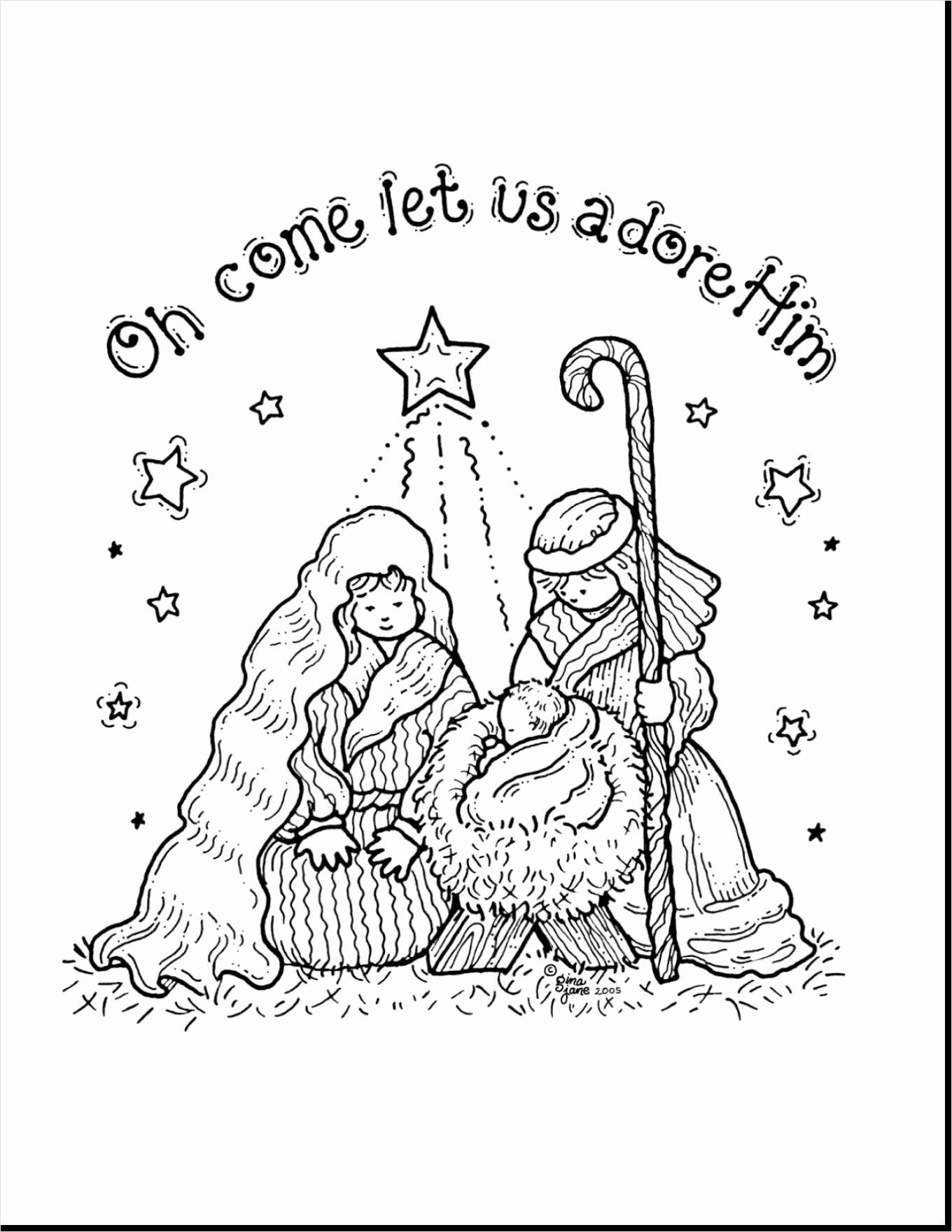 Free Printable Jesus Christmas Coloring Pages With Baby