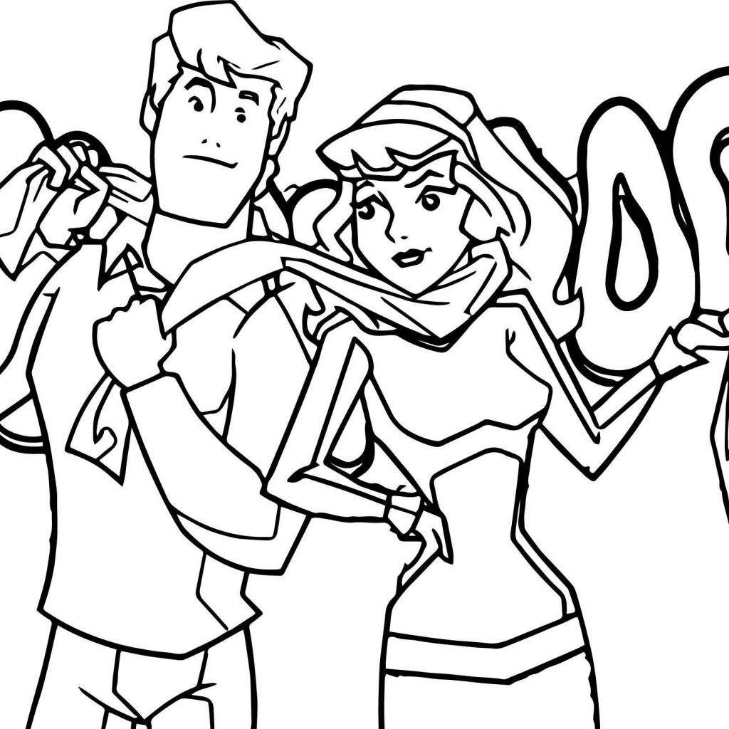 Free Printable Scooby Doo Christmas Coloring Pages With