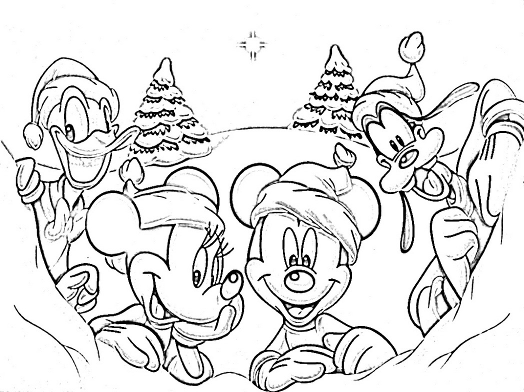 Free Printable Scooby Doo Christmas Coloring Pages With Disney Wallpaper Background Throughout