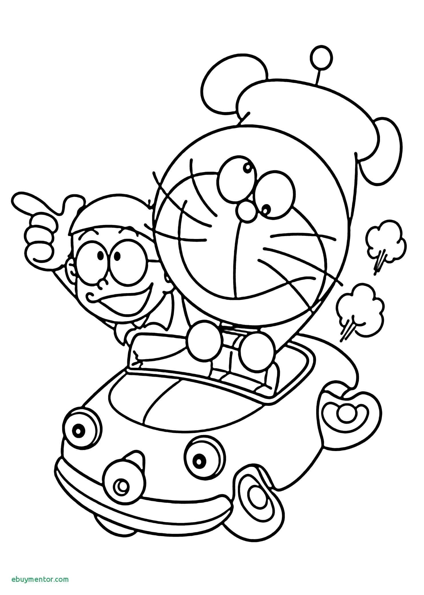Free Printable Vintage Christmas Coloring Pages With Inspirationa Doraemon In Car