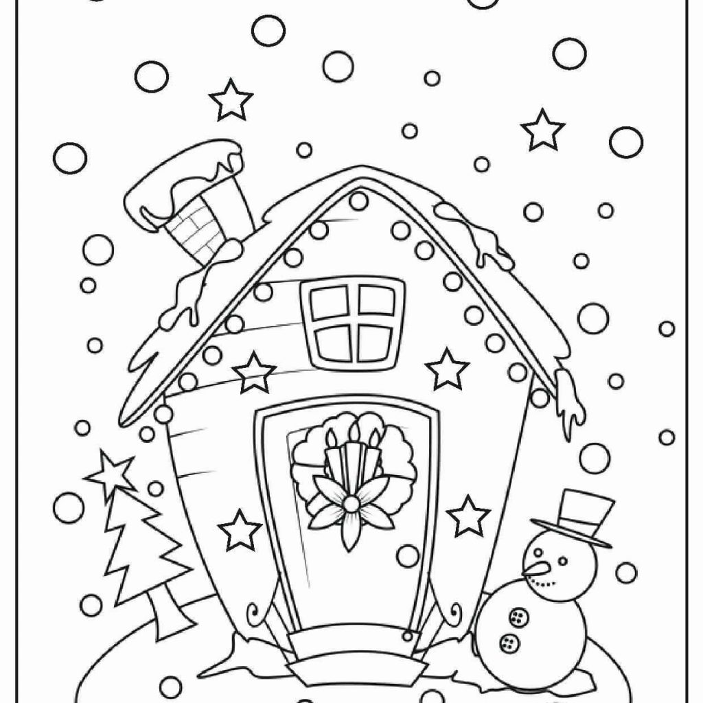 Free Printable Vintage Christmas Coloring Pages With Unique