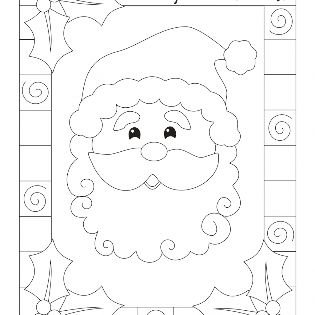 General Santa Anna Coloring Pages With Christmas