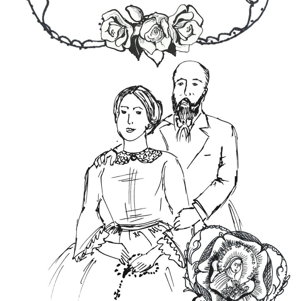 General Santa Anna Coloring Pages With Free Printable Page Of Sts Louis Zelie Martin