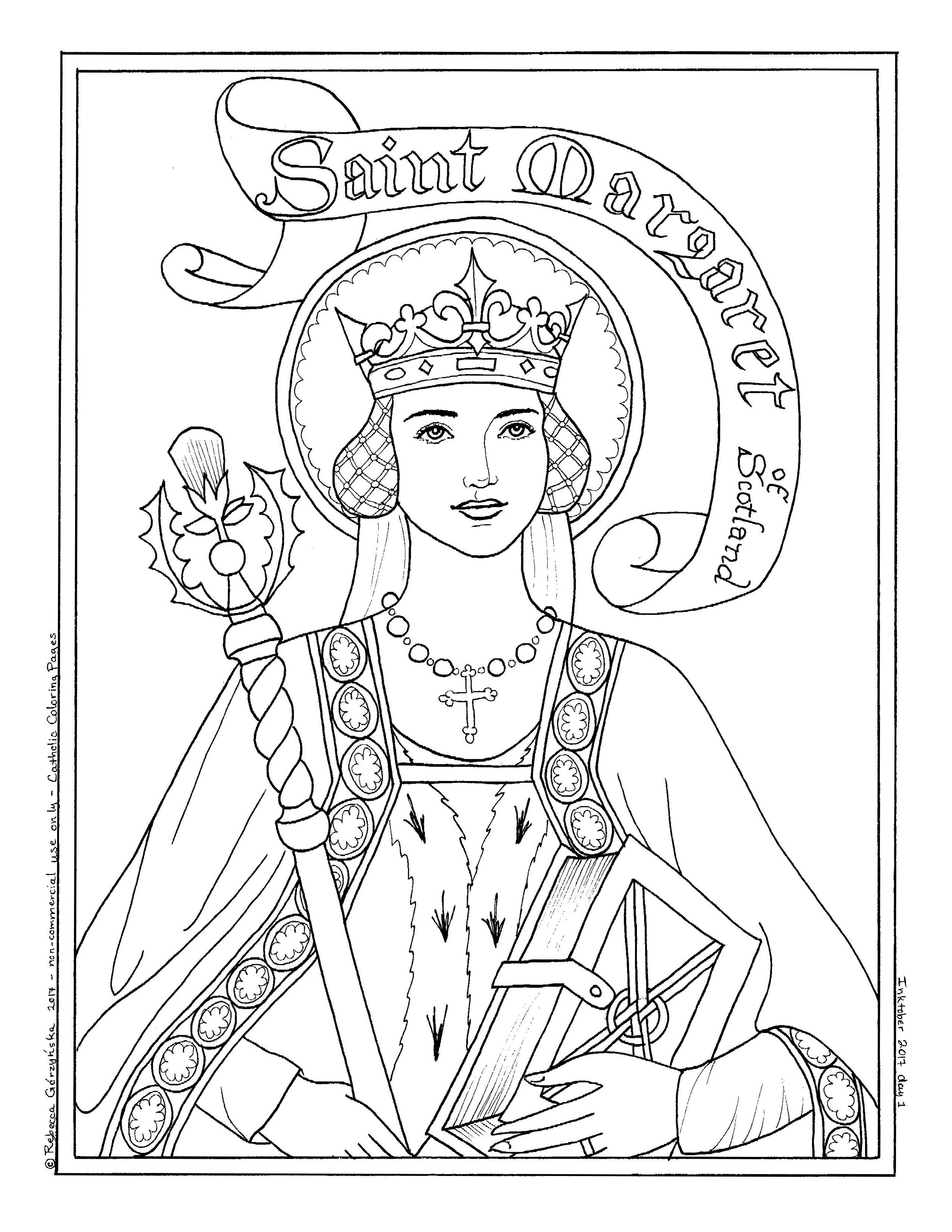 General Santa Anna Coloring Pages With Image Result For St Margaret Of Scotland Page Kids