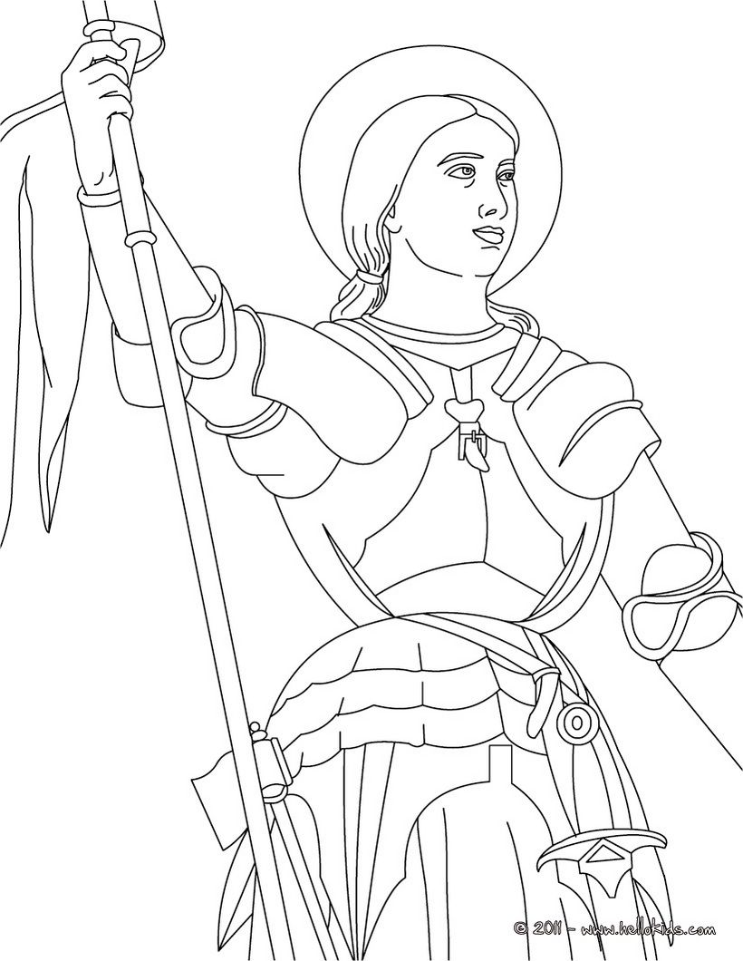 General Santa Anna Coloring Pages With JOAN OF ARC The Maid Of Orl Ans Page Little Flowers