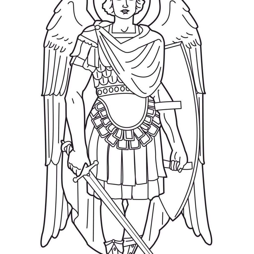 General Santa Anna Coloring Pages With St Michael Archangel Saint The Pinterest
