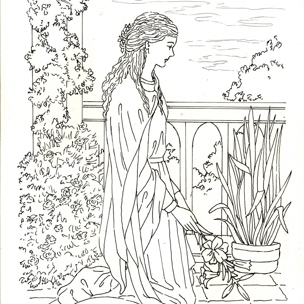 General Santa Anna Coloring Pages With St Philomena A Page To Colour Promising Herself