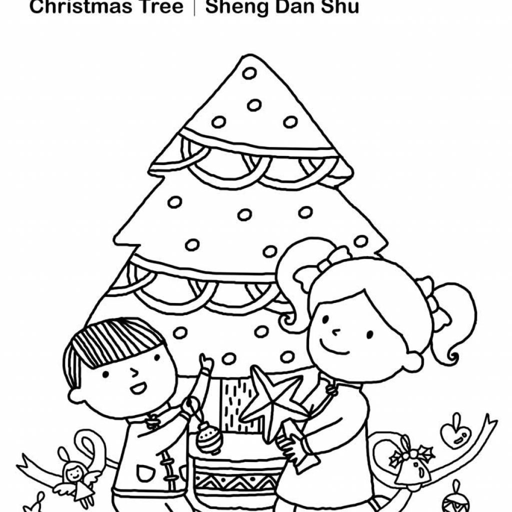 Grayscale Santa Coloring Pages With Christmas Book Chinese And