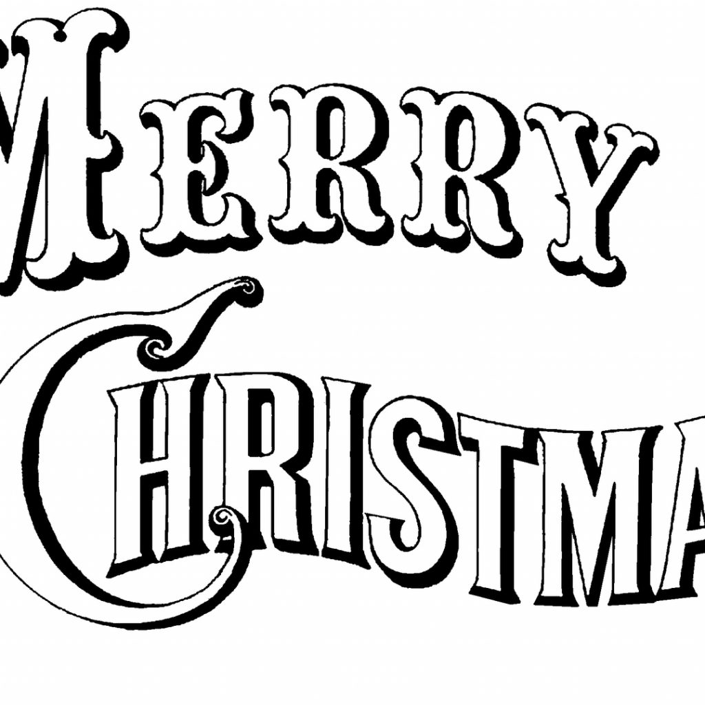 Happy Christmas Coloring Pages With Free Printable Merry