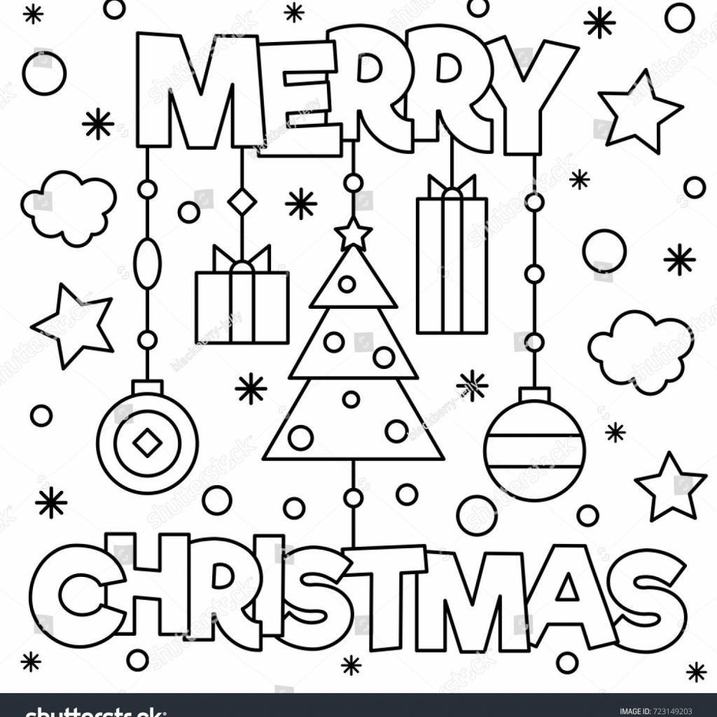 Happy Christmas Coloring Pages With Merry Xmas For Pictures