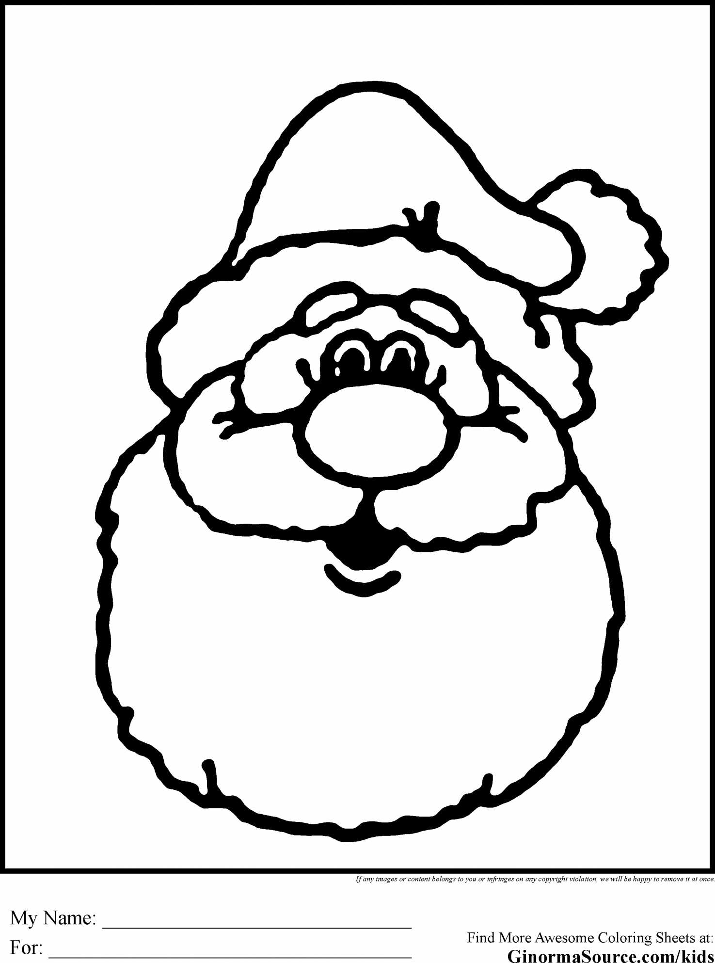 Happy Santa Claus Christmas Coloring Pages With Reindeer