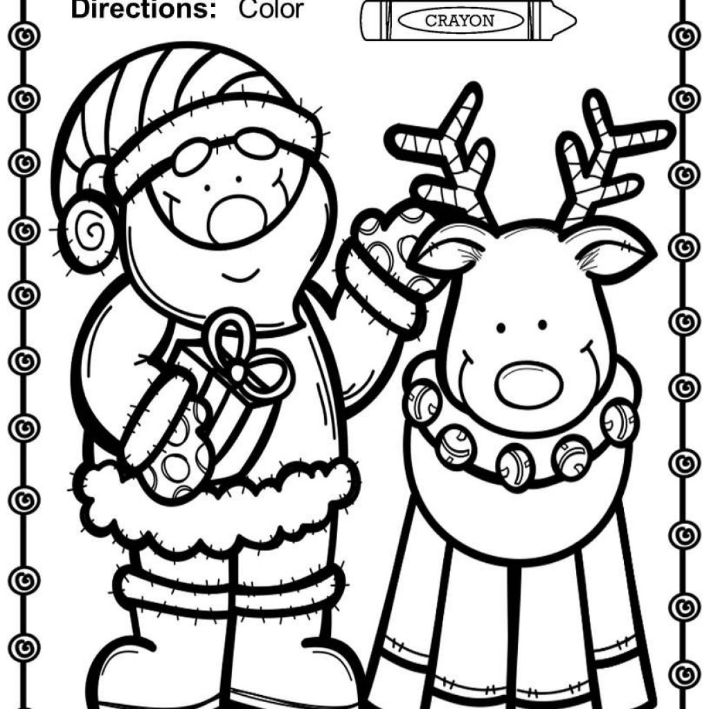 Happy Santa Free Coloring Pages For Christmas With 75 Of Fun
