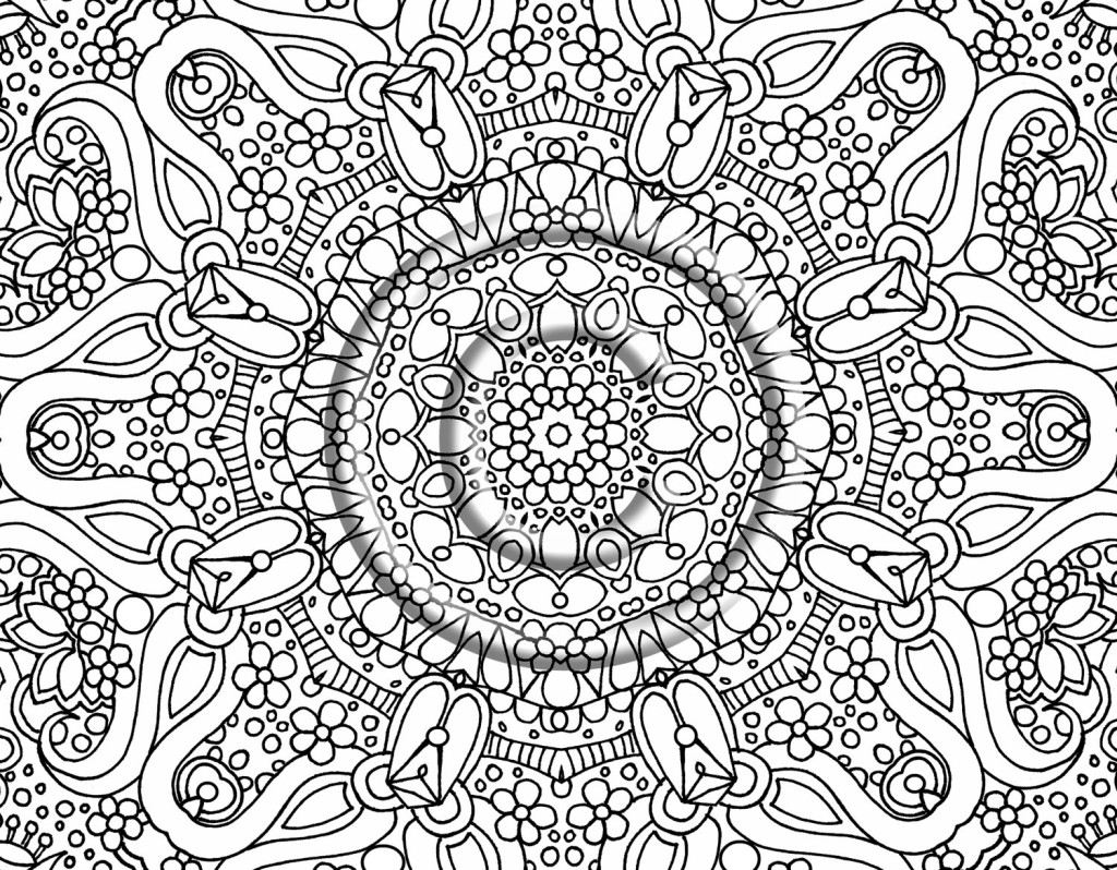 Hard Christmas Coloring Pages For Adults With Difficult Free Library