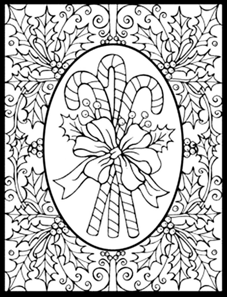 Hard Christmas Coloring Pages Printables With Adult IBY7 Within
