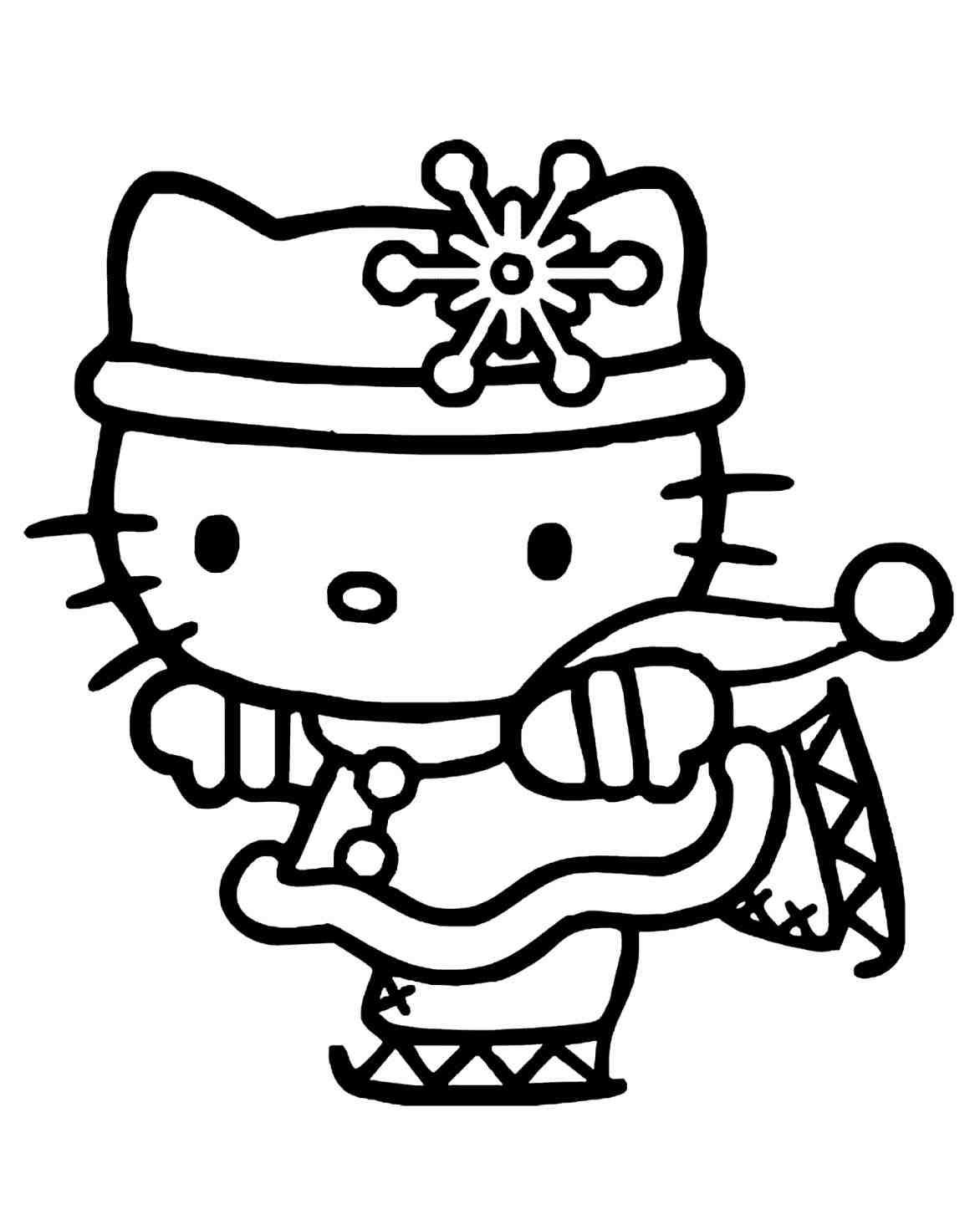 Hello Kitty Christmas Coloring Pages Free Print With New Post Sheets Trendingcheminee