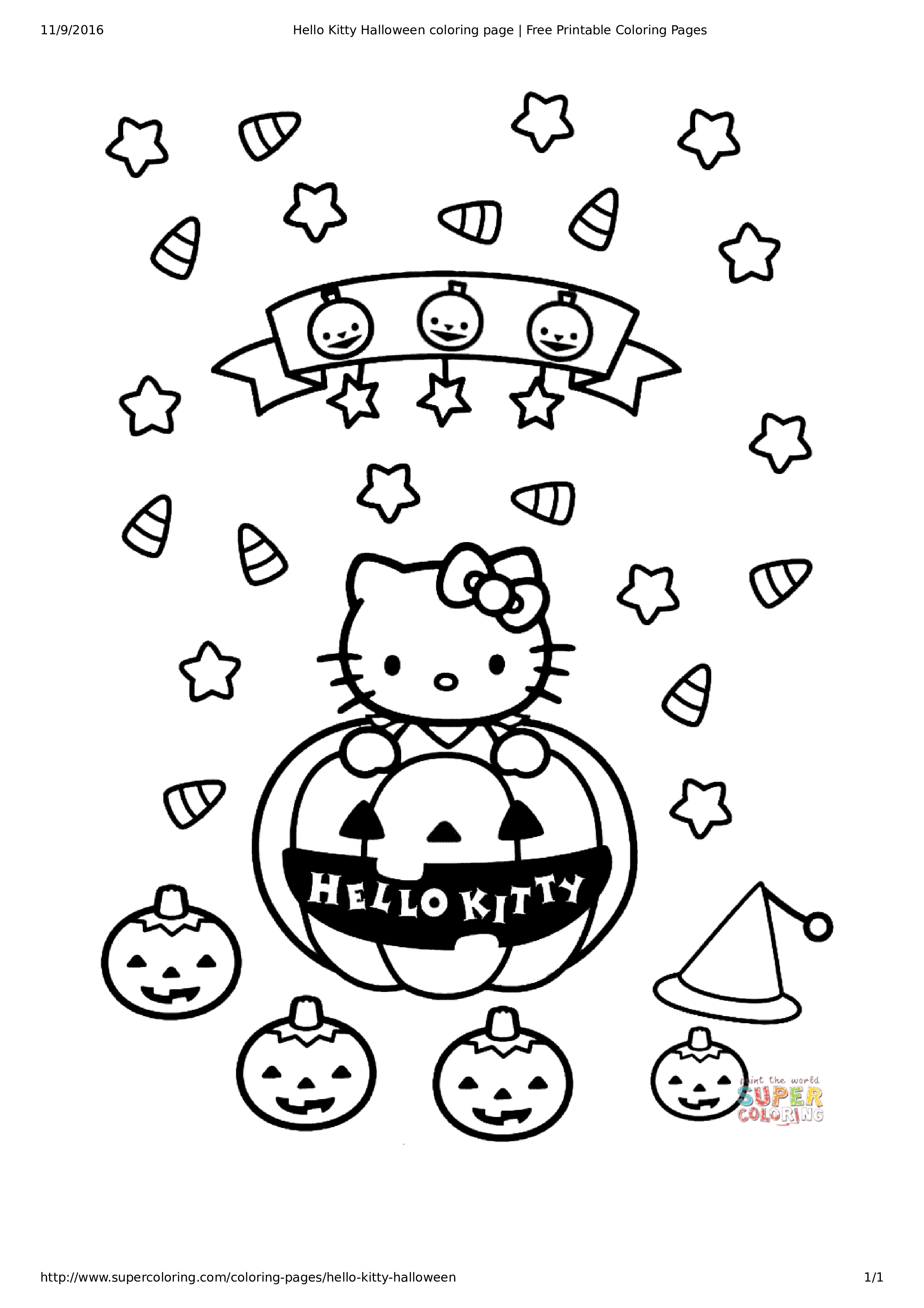 Hello Kitty Christmas Coloring Pages Free Print With Page Templates At