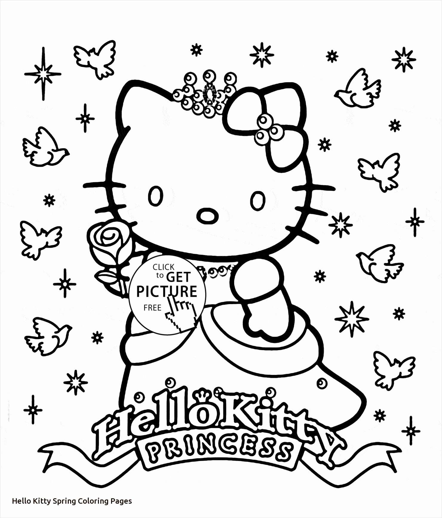 Hello Kitty Christmas Coloring Pages Free Print With Princess Page