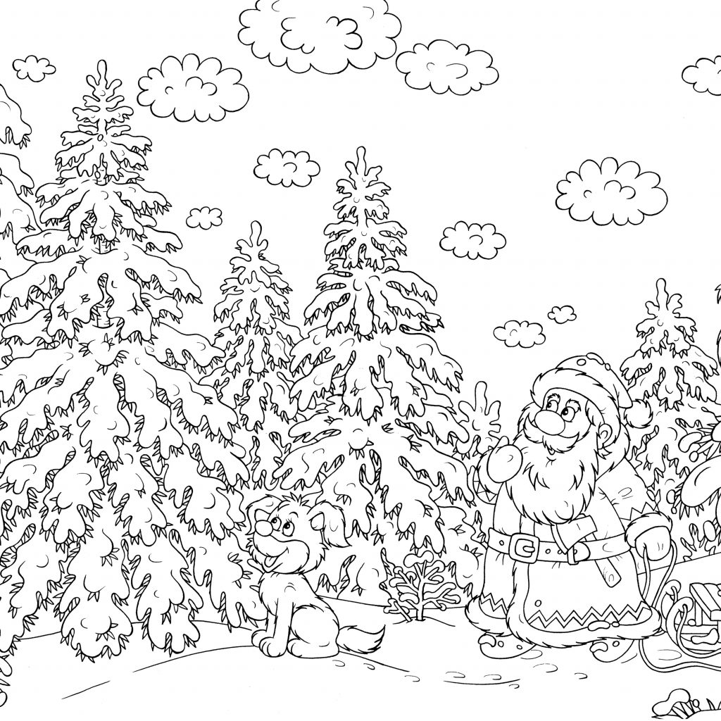 High Quality Christmas Coloring Pages With Difficult For Adults Gallery Free