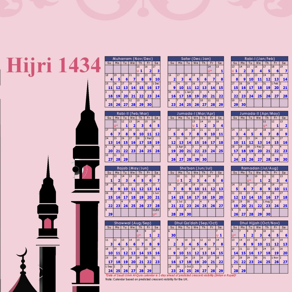 Islamic Hijri Calendar Year 2019 Ce With 1434 2012 13 Download