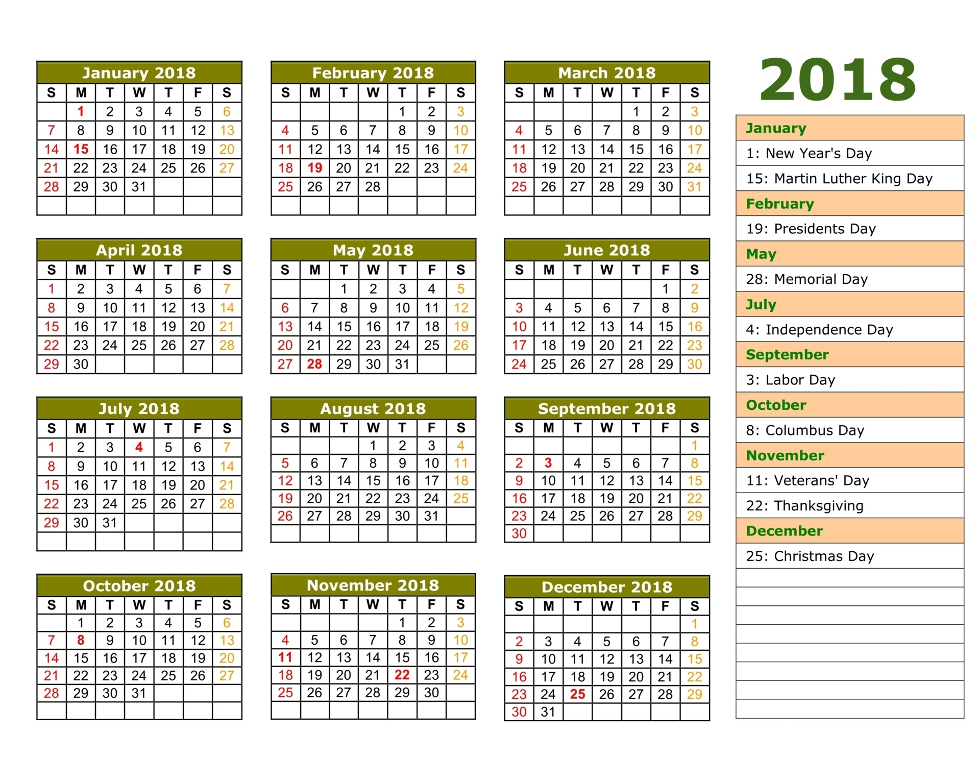 Islamic Hijri Calendar Year 2019 Ce With 2018 1439 Free Printable