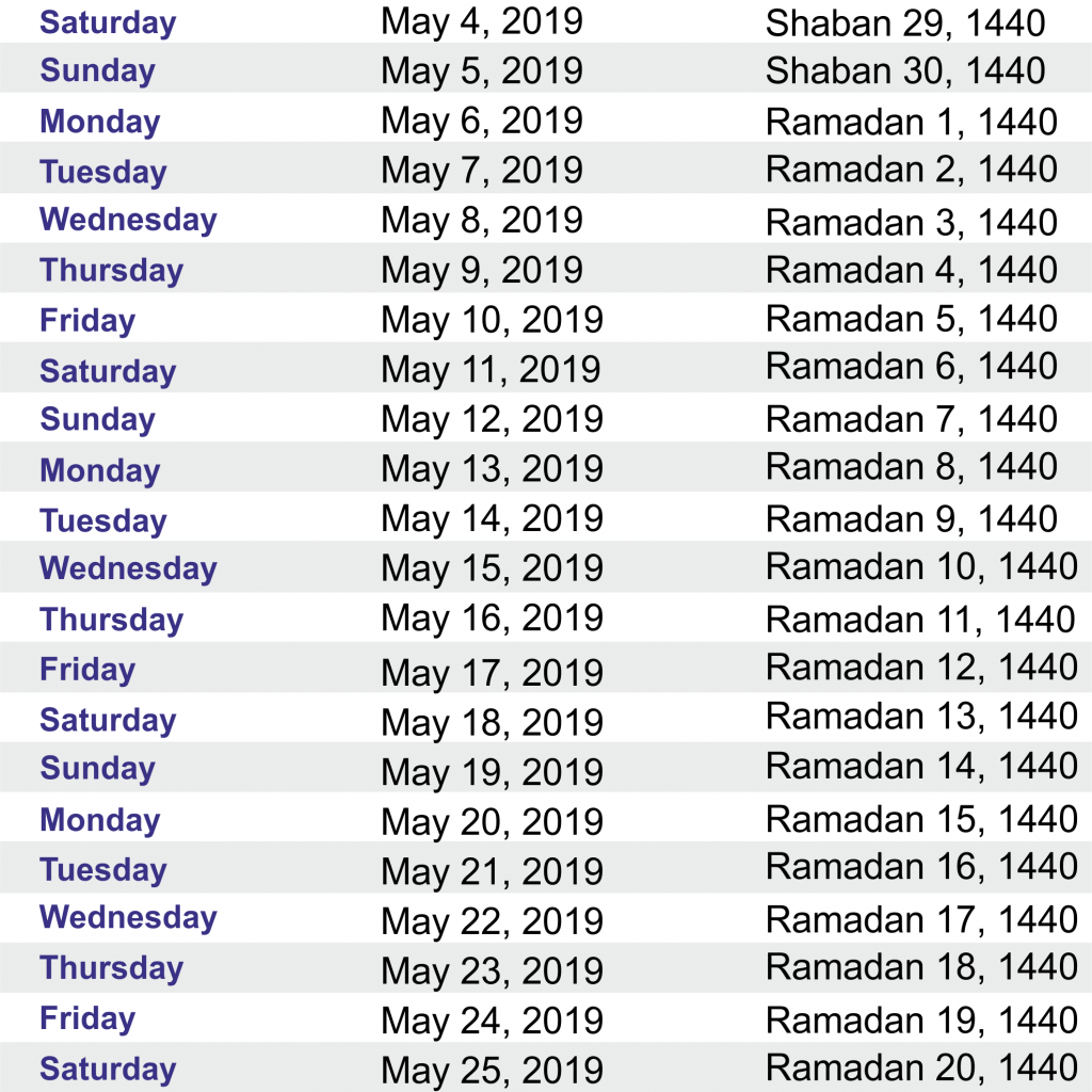 Islamic New Year 2019 Calendar With Yearly Hijri Public Holidays 2018
