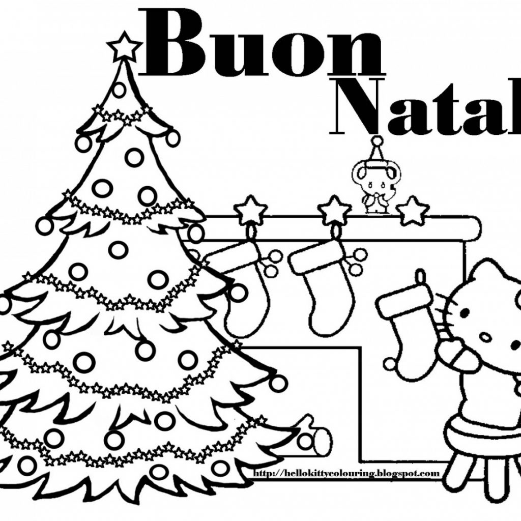 Italian Christmas Coloring Pages With Hello Kitty Page Foto Von