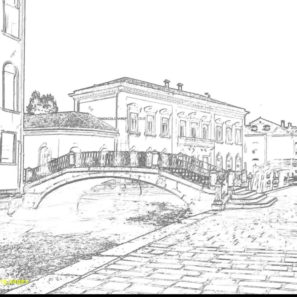 Italy Christmas Coloring Pages With Collesium Free