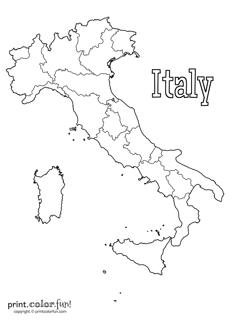Italy Christmas Coloring Pages With Map Of Print Color Fun Free Printables