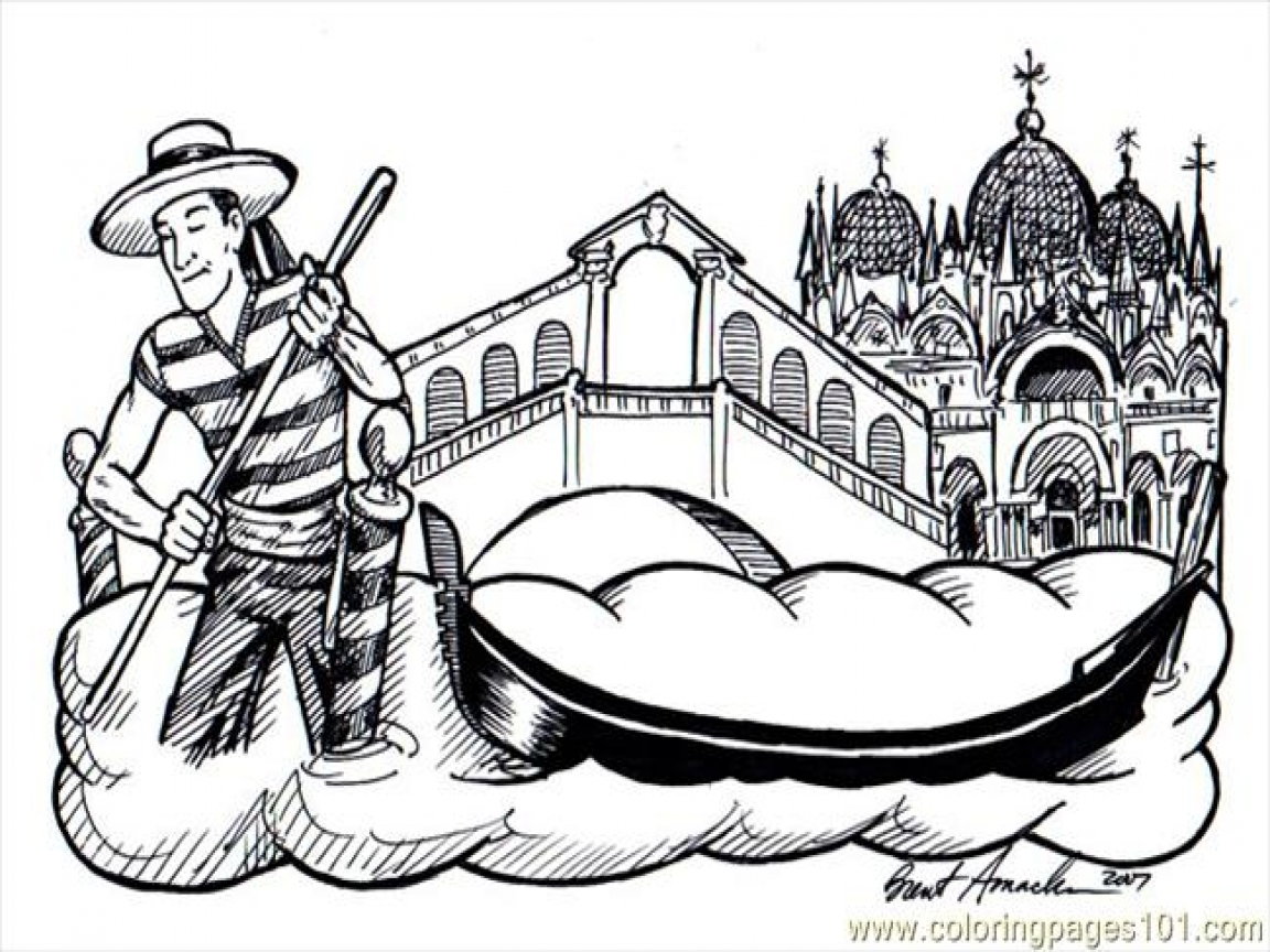 Italy Christmas Coloring Pages With Printable Of Master