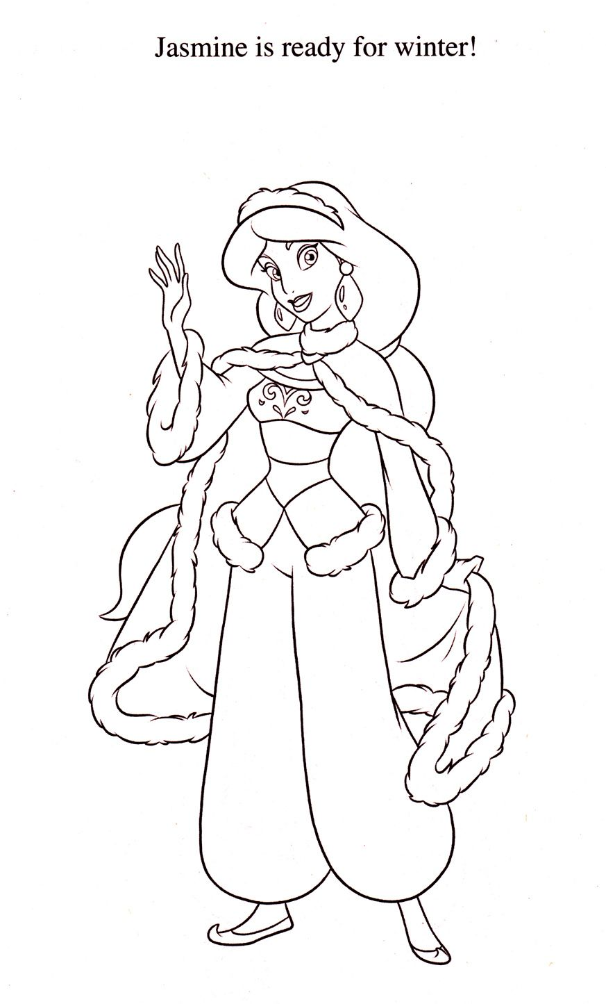 Jasmine Christmas Coloring Pages With Is Winter Ready Passo A